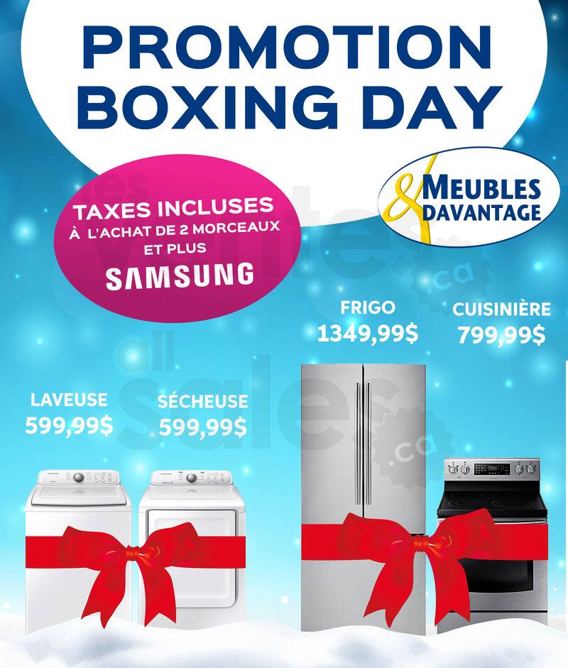Vente du boxing day meubles davantage for Meuble boxing day