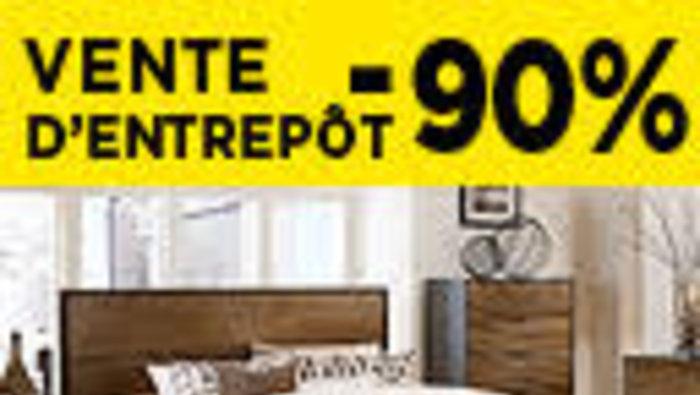 Vente d 39 entrep t de meubles jusqu 39 90 for Entrepot meuble montreal