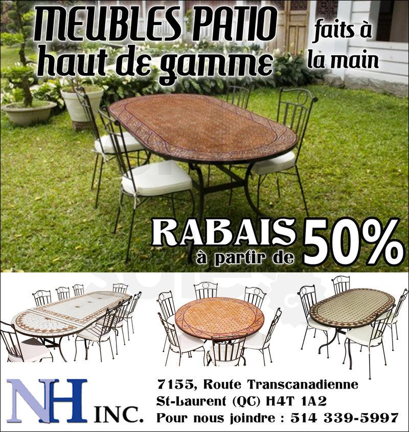 Meubles patio partir de 50 de rabais for Centre de liquidation meubles montreal