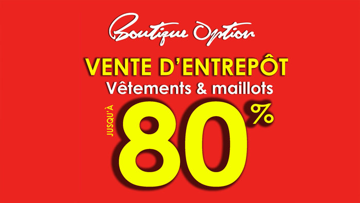 Vente d 39 entrep t v tements maillots 80 for Meuble aubaines mascouche