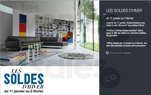 roche bobois jusqu 39 60 de rabais. Black Bedroom Furniture Sets. Home Design Ideas