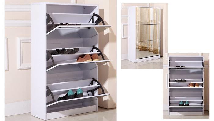 Meuble chaussures avec miroir 139 for Entrepot de meuble montreal
