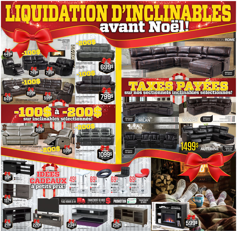 Liquidation avant no l meubles matelas for Liquidation meuble rive sud