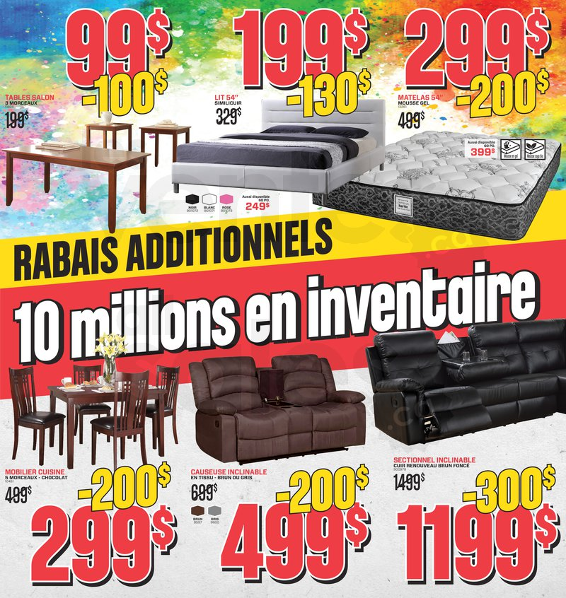 Surplus rd liquidation de meubles for Ameublement quebec