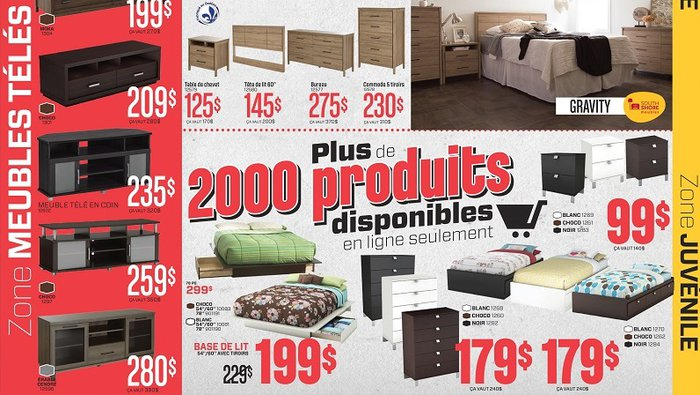 Rabais additionnels meubles matelas for Liquidation meuble chicoutimi