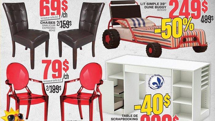 Rabais additionnels meubles matelas for Entrepot matelas rive sud