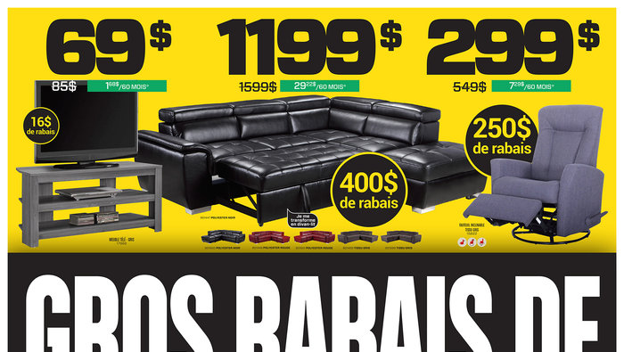 Liquidation sofas mobilier salon for Liquidation meuble sherbrooke