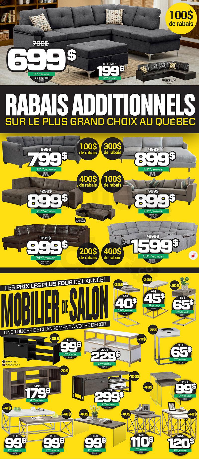 Liquidation sofas mobilier salon for Mobilier liquidation