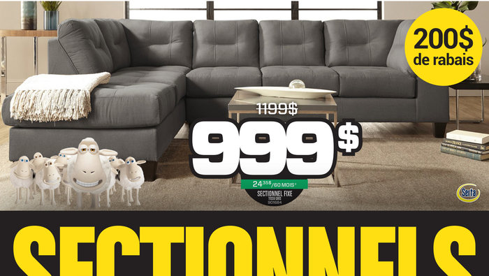 Liquidation sofas mobilier salon for Liquidation meuble chicoutimi