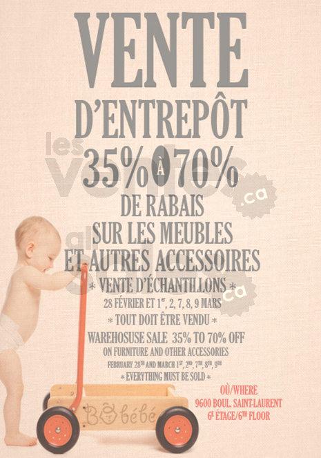 B b b vente d 39 entrep t jusqu 39 70 for Entrepot meuble montreal