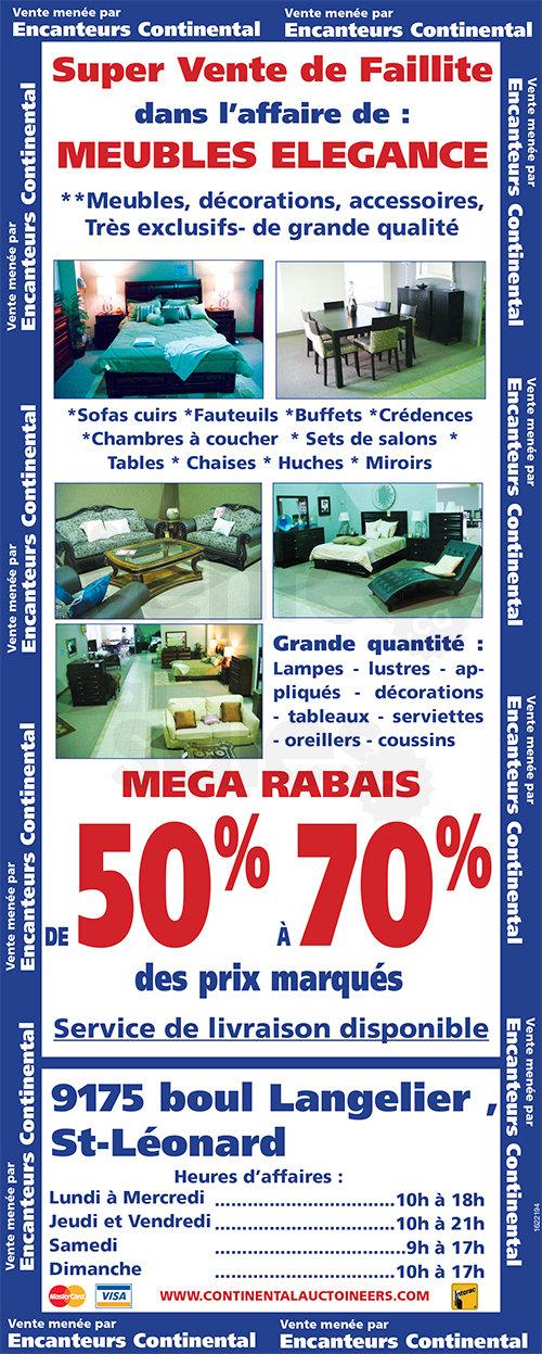 Faillite meubles l gance 50 70 for Mega meuble langelier