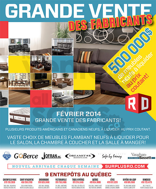 Vente entrep t de mobilier rabais 50 for Centre de liquidation club piscine
