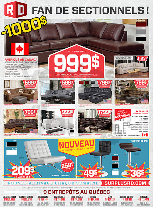 Meubles de salon 50 de rabais minimum for Centre de liquidation club piscine